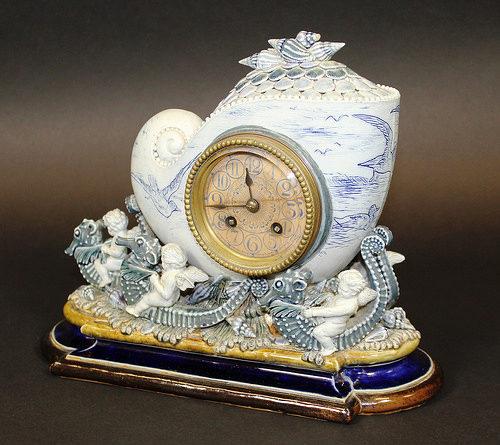 A Doulton stoneware clock which broke auction records
