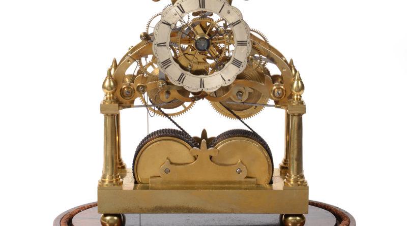 Skeleton clock c1840