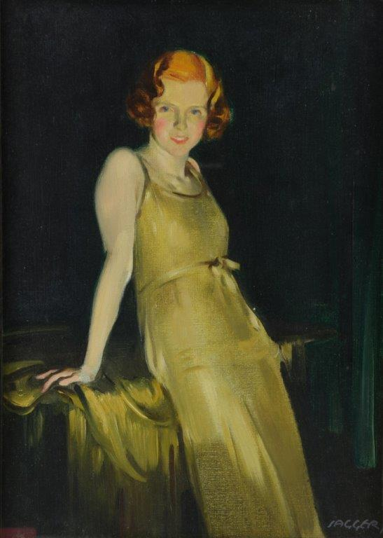 David Jagger portrait of a young woman