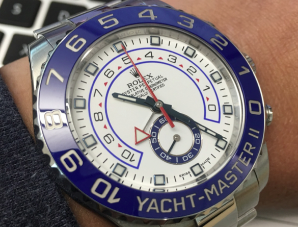A Rolex Yachtmaster vintage watch