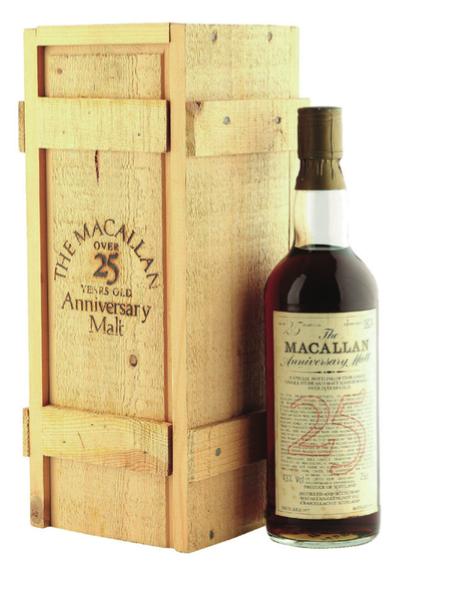 Macallam 25 year anniversary malt whisky