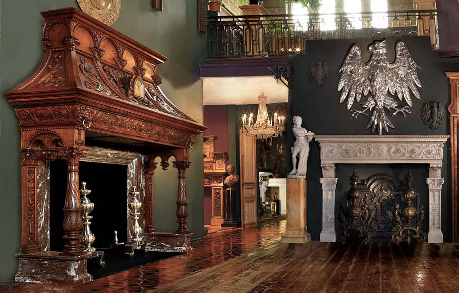 An interior with antique furnishings