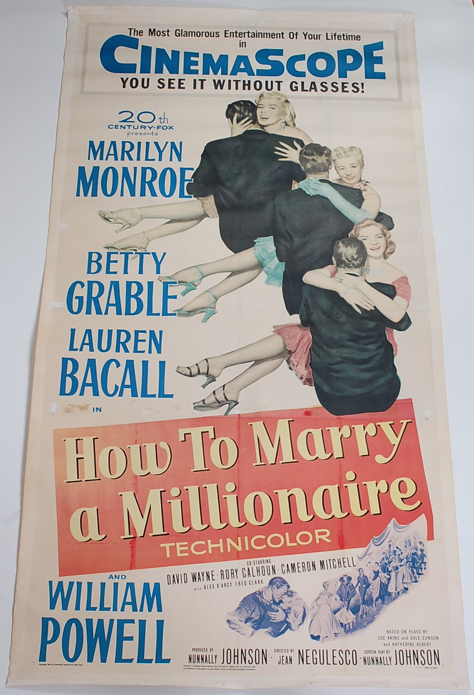 How to Marry a Millionaire vintage film poster