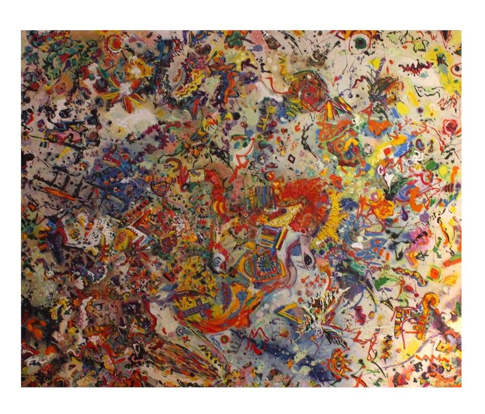 The Michael Ward abstract painting called 'Pandemonium' sold for £950