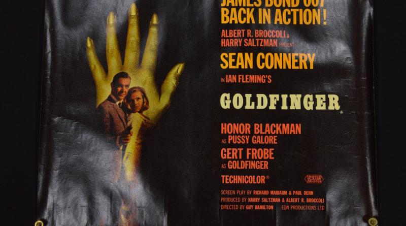 Vintage James Bond Goldfinger poster