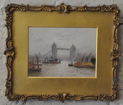 Goff London watercolour of Tower Bridge2