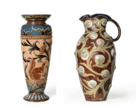Two collections of British art pottery in Yorkshire sale