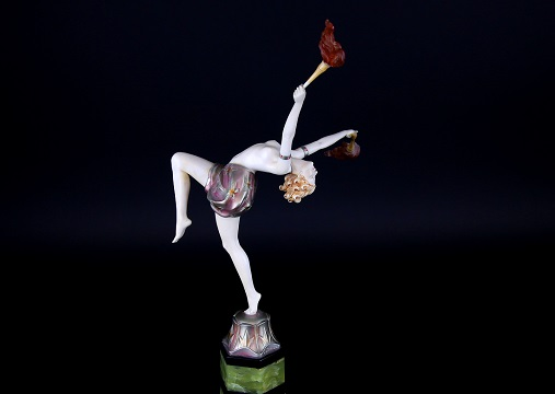 The Preiss sculpture, the iconic Torch Dancer