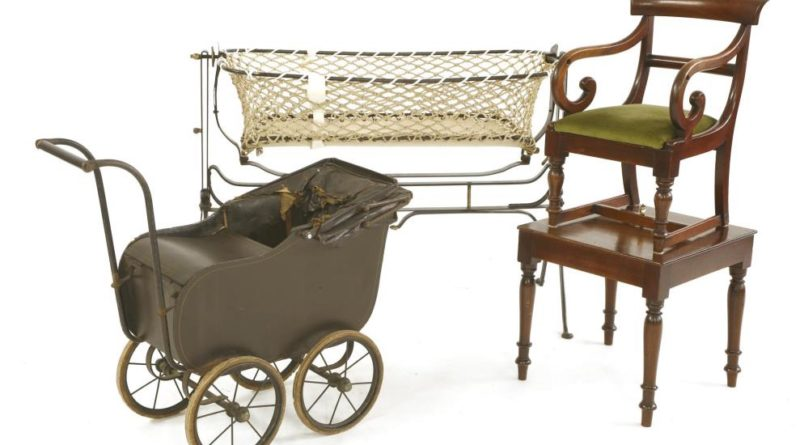 Queen Mother's cot is in the collection of royal nursery items