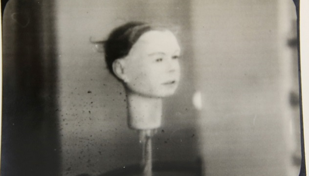 Photograph from the archive of the first man to appear on television