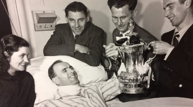 West Bromwich Albion goalkeeper Norman Heath sees FA Cup from hospital bed
