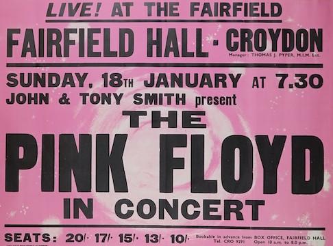 A Pink Floyd rock poster