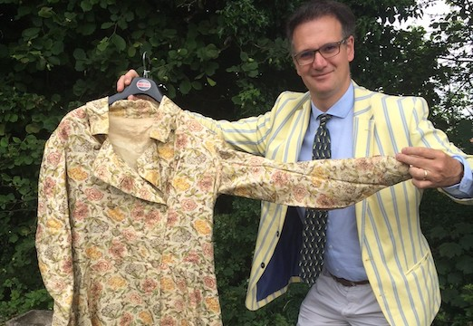 Auctioneer Charles Hanson with Prince Albert's dressing gown