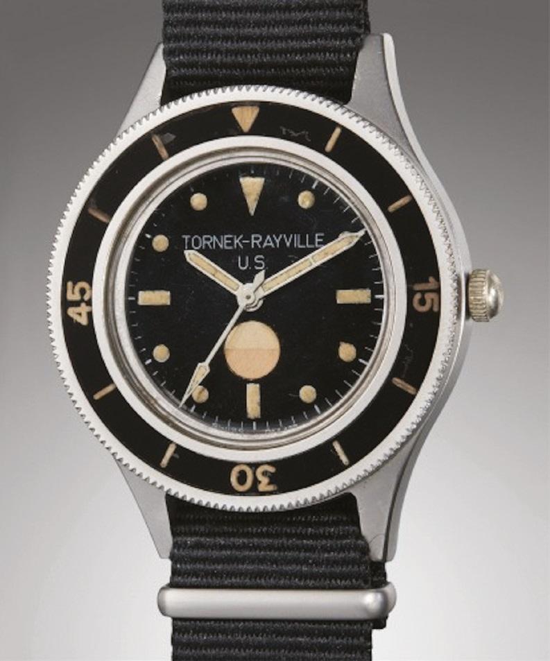 A Tornek-Rayville TR-900 military watch