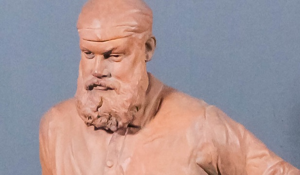 The terracotta statue of WG Grace was part of an antique cricket collection