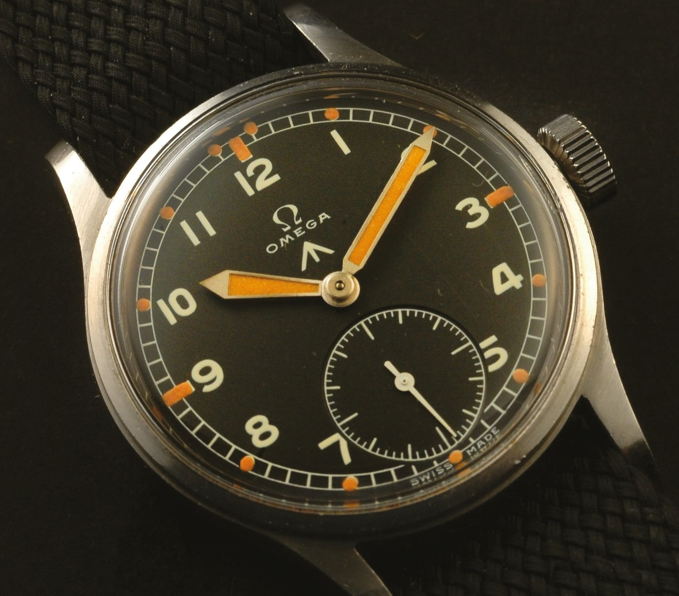 An Omega WWW watch, one of the Dirty Dozen military watches