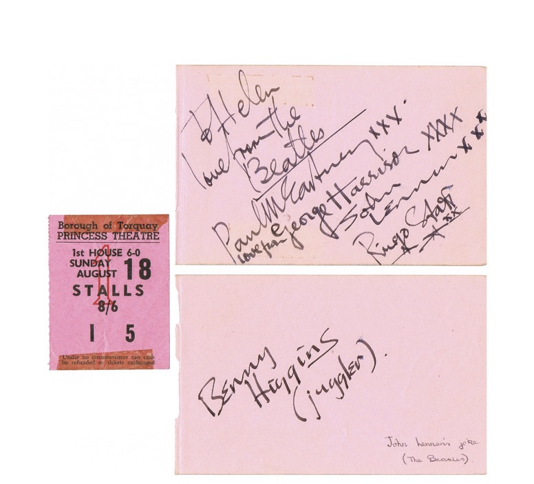 A set of Beatles' signatures