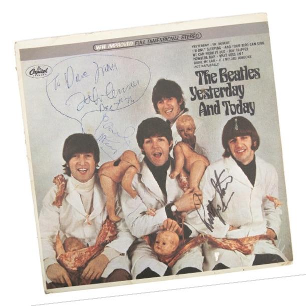 Signed Beatles 'Butcher' album