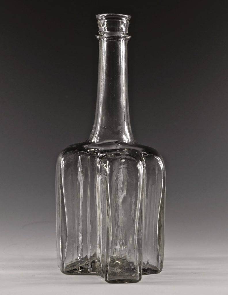 Cruciform antique glass decanter