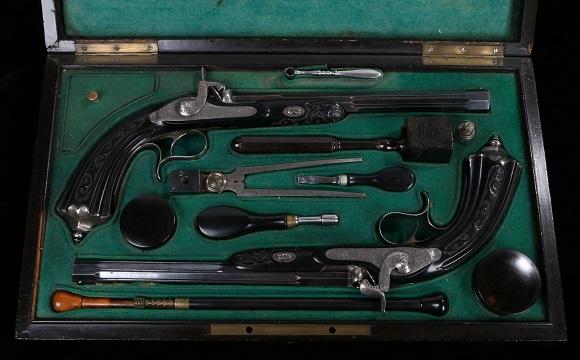 A set of antique pistols