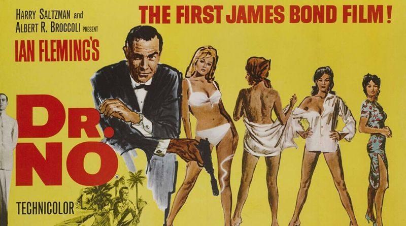 James Bond Dr No vintage film poster
