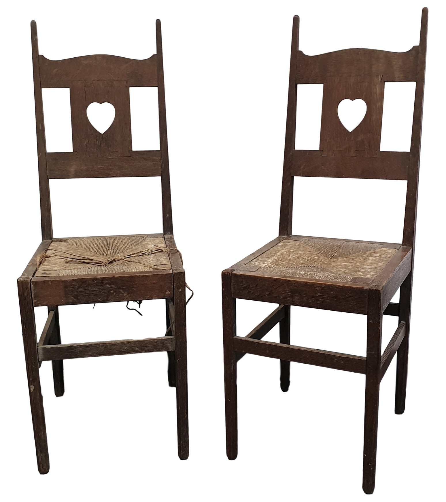 A pair of Charles Voysey chairs in the Cotswolds sale