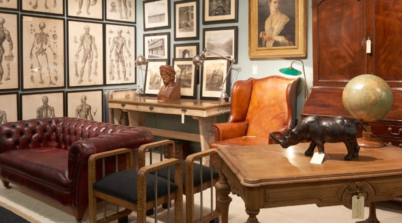 A stand at the Decorative Antiques & Textiles Fair in Battersea