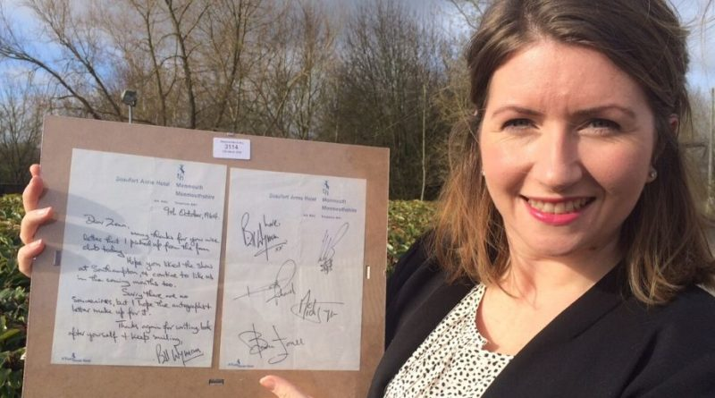The Rolling Stones letter held by Isabel Murtough of Hansons Auctioneers