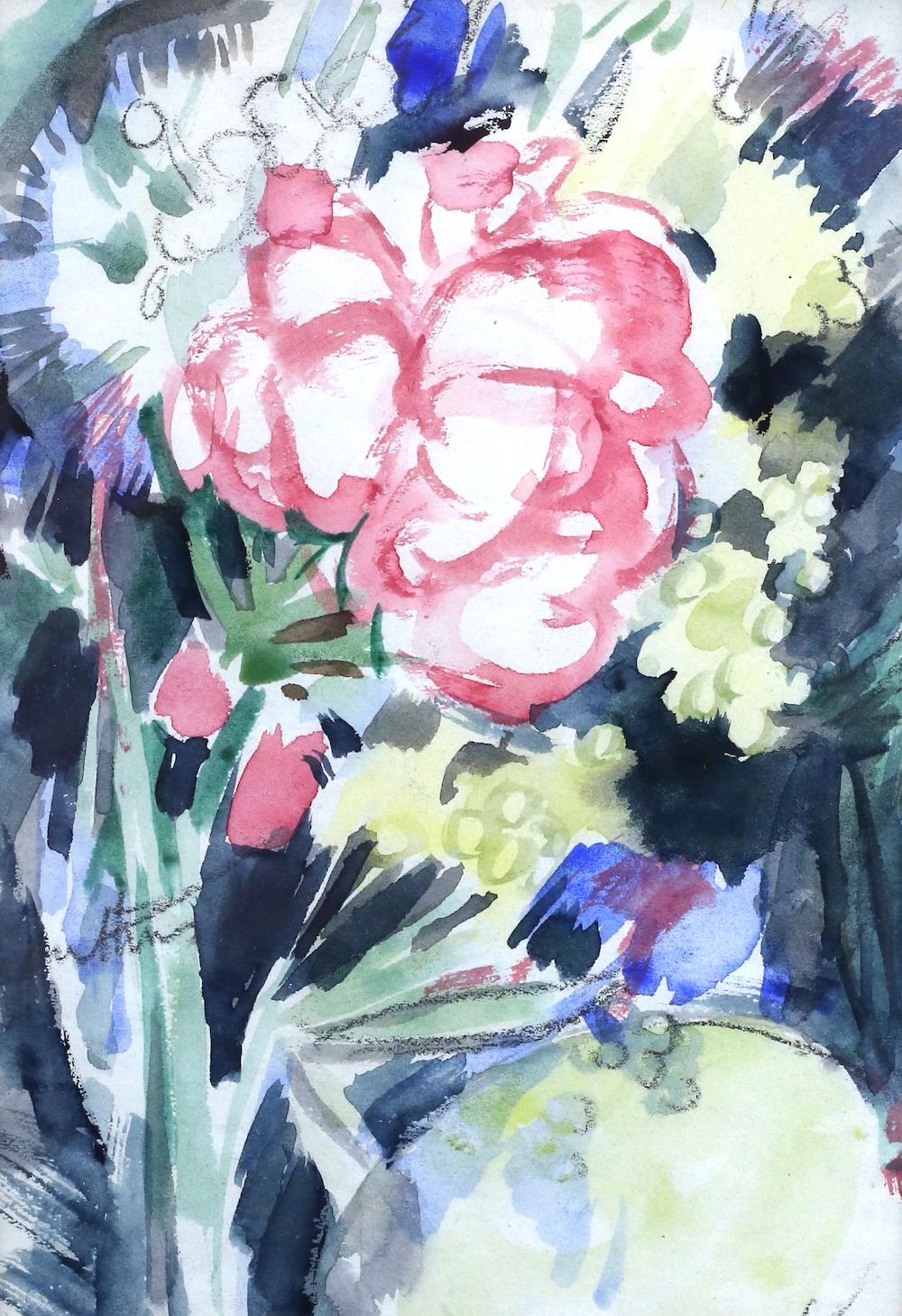 John Duncan Fergusson - flowers still life