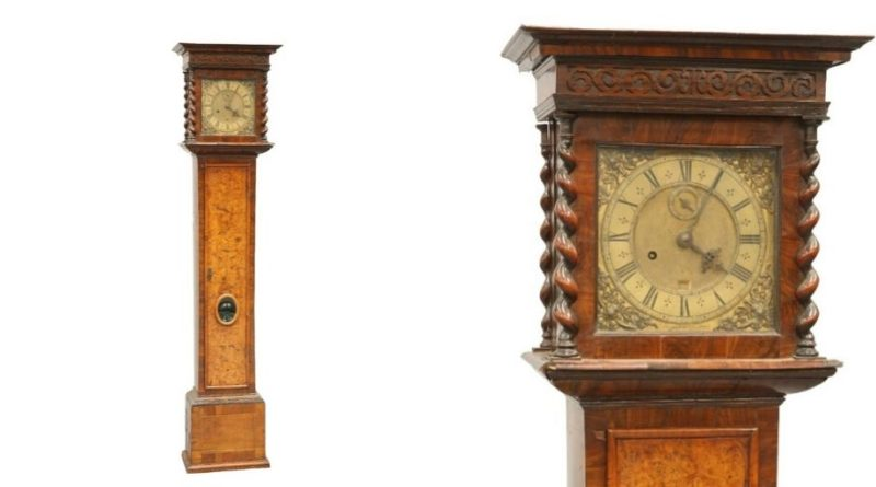 Henry Jones long case clock in sale