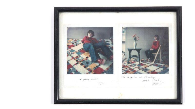 A pair of David Hockney polaroids