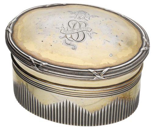 Sarah Bernhardt silver dressing table pot