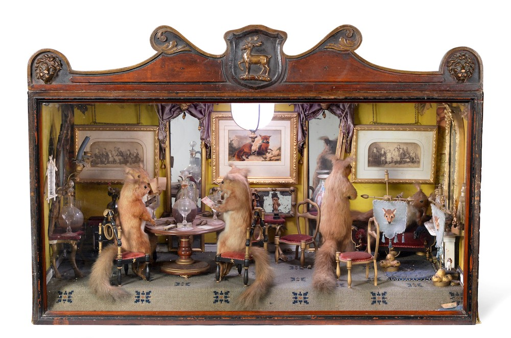 taxidermy surreal diorama
