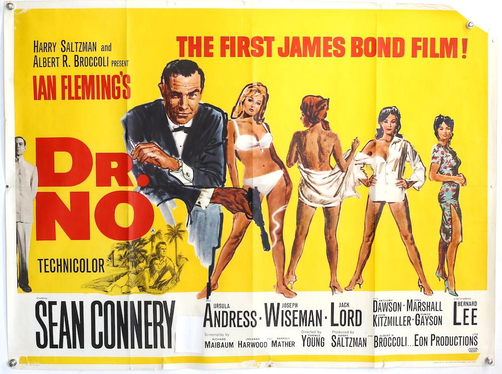 James Bond film poster for Dr No