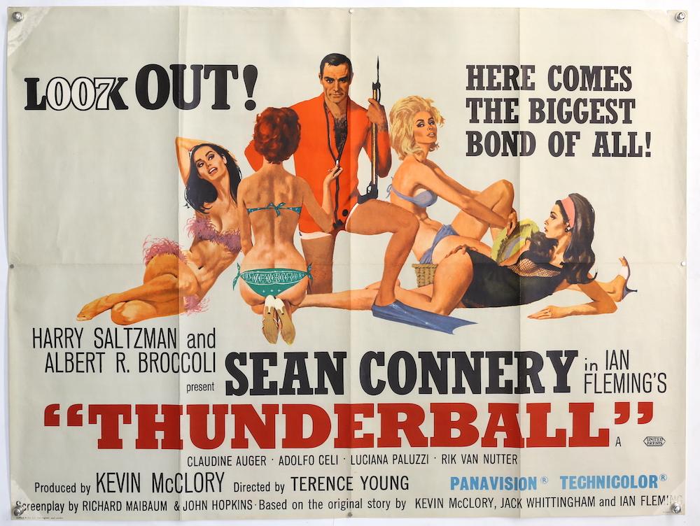 James Bond film poster for Thunderball