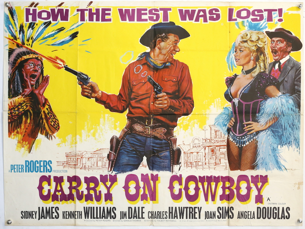 A poster for the 1966 film Carry On Cowboy