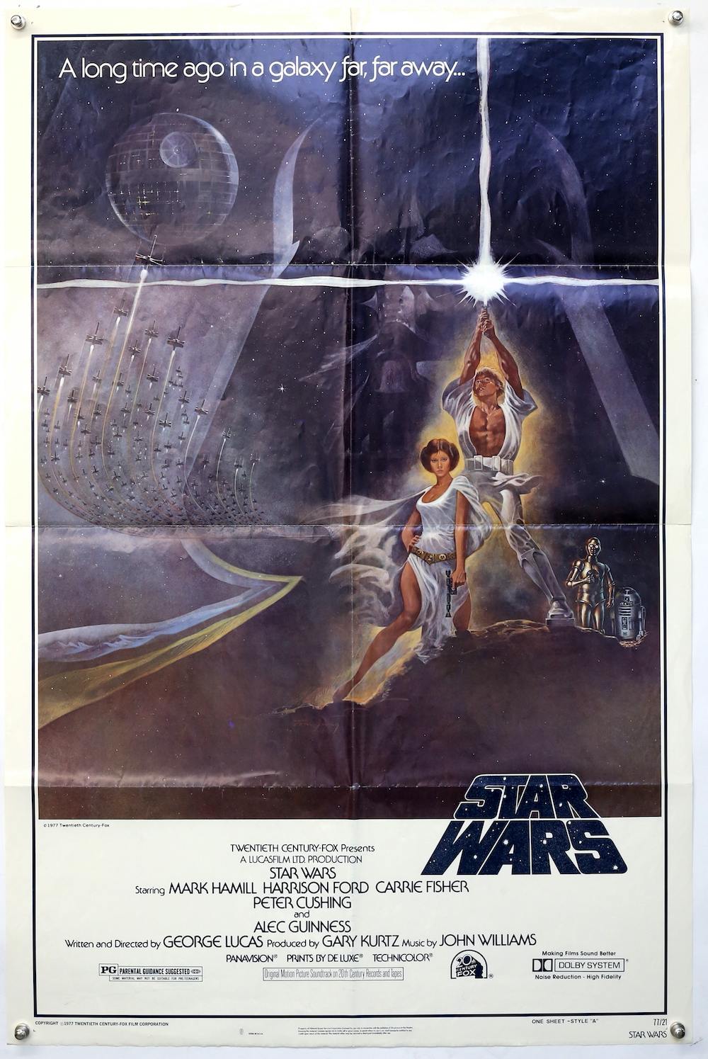 A poster for the original first Star Wars movie