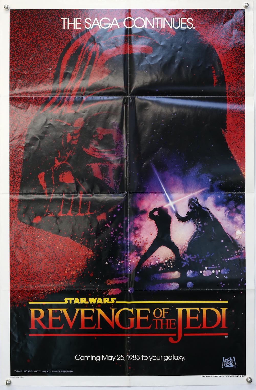 Original Revenge of the Jedi Star Wars film