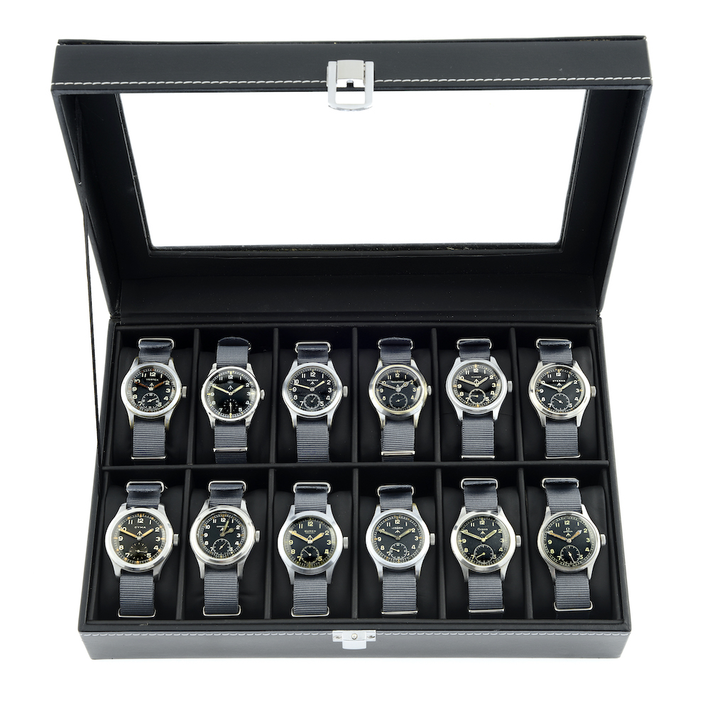 A collection of Dirty Dozen military watches