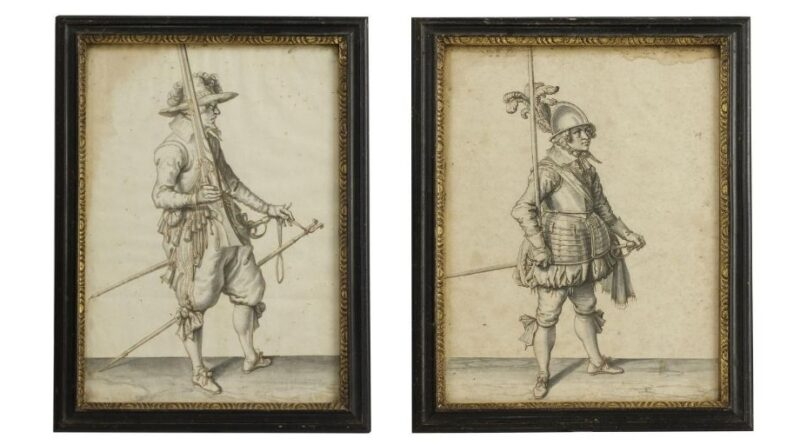 Pictures attributed to Jacob de Gheyn the Younger