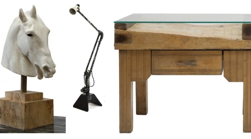 Items from the Salvage Hunters TV show at Sworders