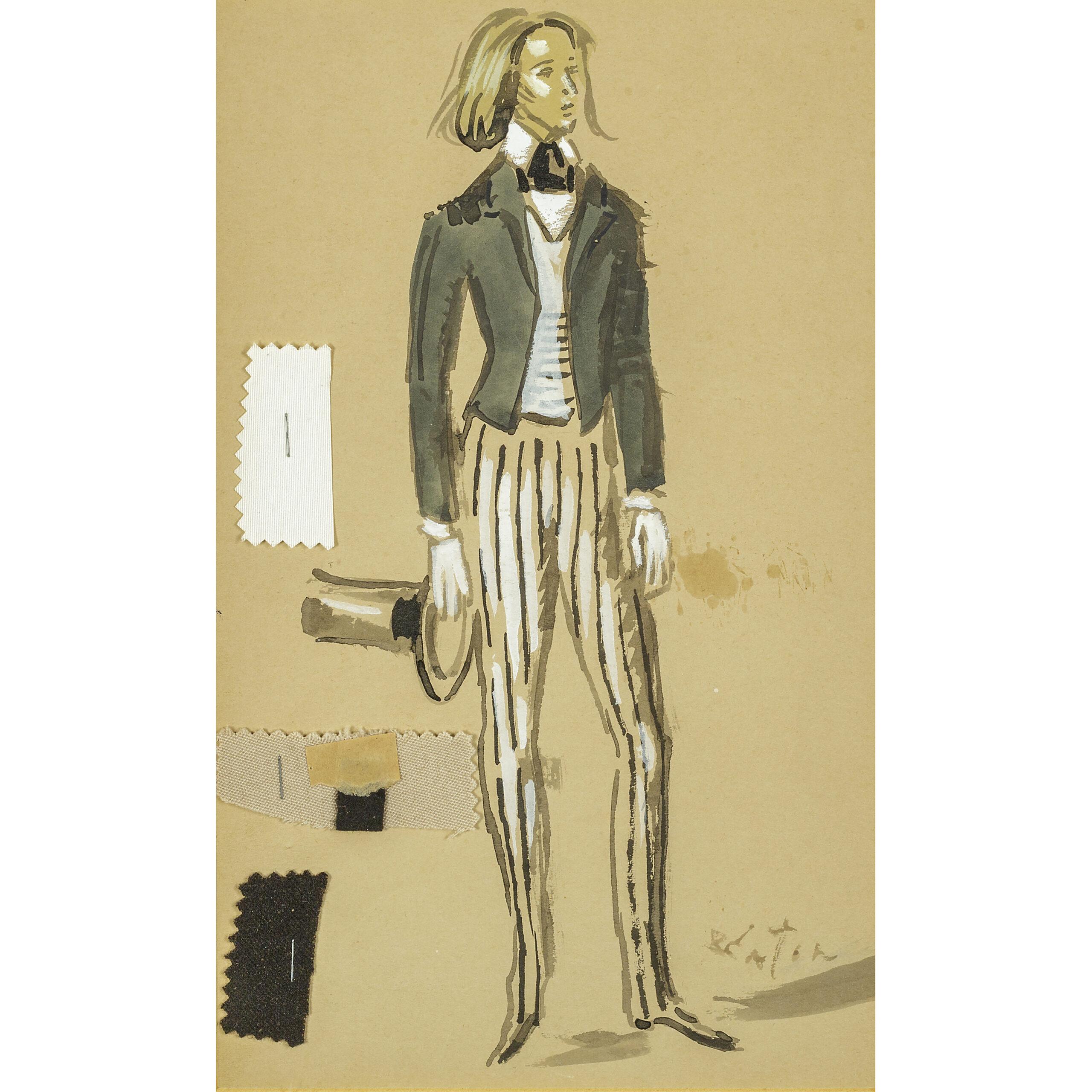 A watercolour by Sir Cecil Beaton