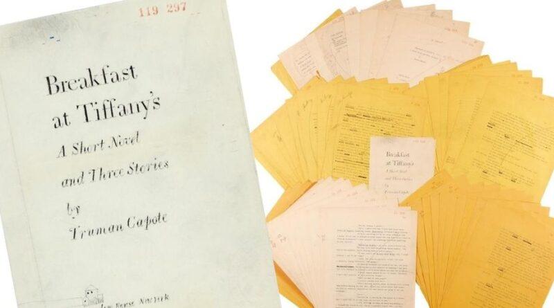 Truman Capote's typescript for Breakfast at Tiffany's