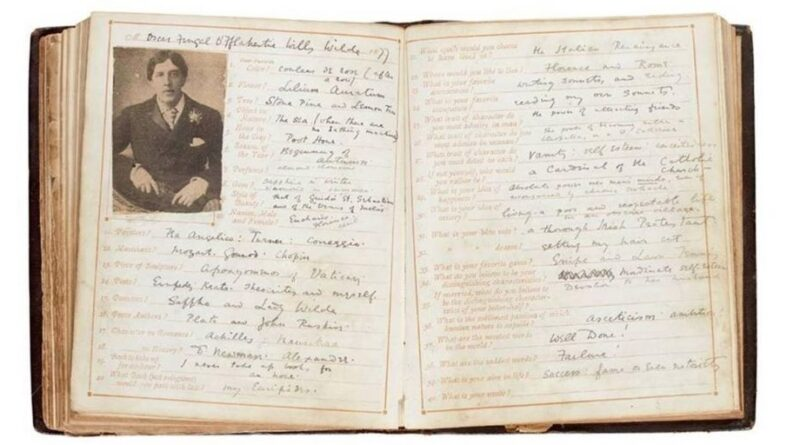The Oscar Wilde questionnaire in Soethby's sale