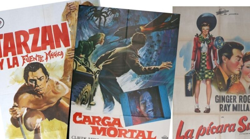 Selection of vintage film posters
