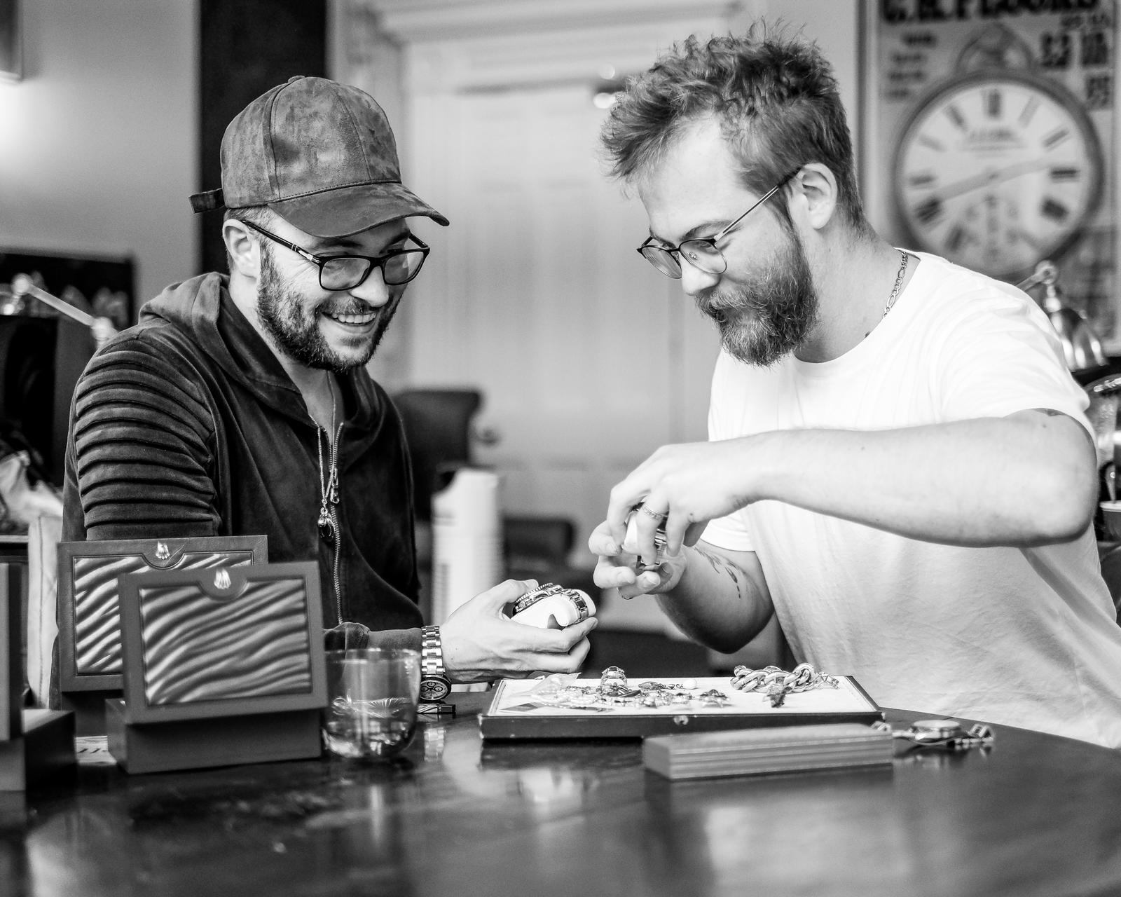 Alex and Monty of Butter Lane Antiques