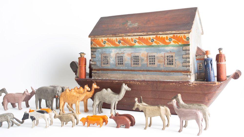 A 19th-century toy Noah's ark