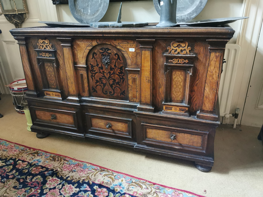 Northern Italian coffer on a stand