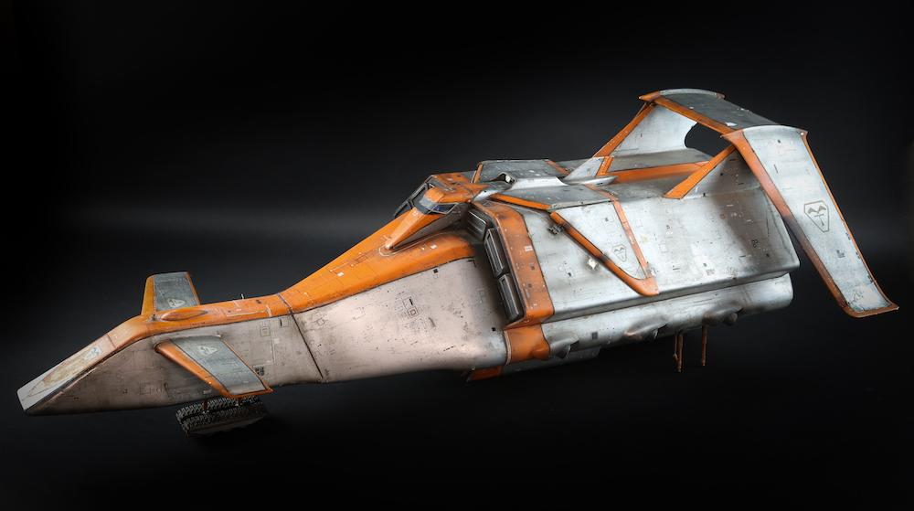Battlehawk used in the production of Terrahawks, approximately one metre long