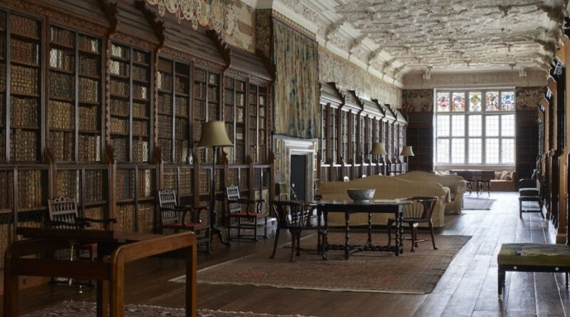 The library at Blicking Hall in Norfolk